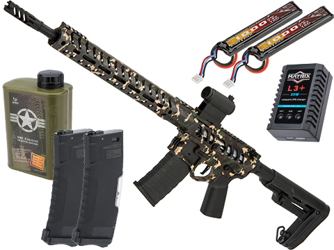 Demolition Ranch eUDR-15 2.0 with Electronic Trigger AR15 Airsoft AEG Training Rifle by EMG / F-1 Firearms (Model: Standard / 350 FPS / Tactical Package)