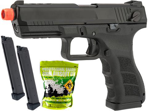 KWA ATP Full Size Airsoft GBB Gas Blowback Pistol (Model: Full Auto / Siege Package)