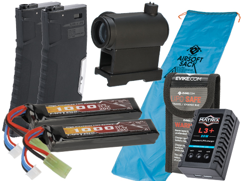 Evike Go Airsoft Base Essentials AEG Starter Package (Series: M4 / 11.1v LiPo Tamiya)