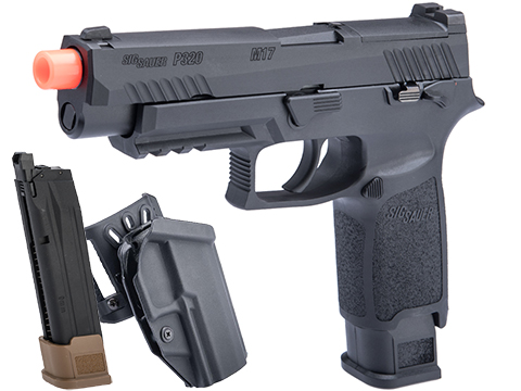 SIG Sauer ProForce P320 M17 MHS Airsoft GBB Pistol (Color: Black / CO2 / Carry Package)