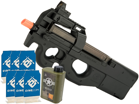 Evike.com Stay at Home Weapon Training / Target Shooting Airsoft Pack (Model: FN Herstal Licensed P90 AEG)