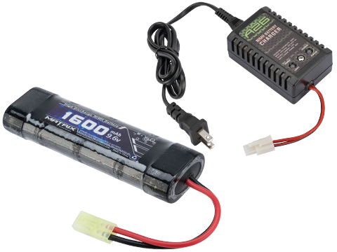 AEG Battery Starter Package w/ Smart Charger (Battery: 9.6v 1600mAh Small Type)