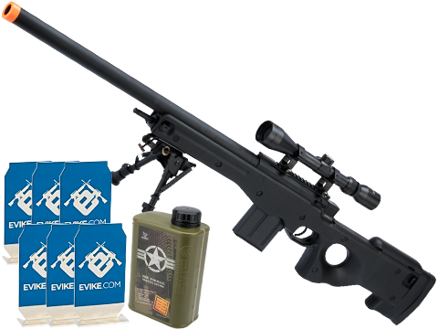 Evike.com Stay at Home Weapon Training / Target Shooting Airsoft Pack (Model: CYMA Standard L96 Airsoft Sniper Rifle)