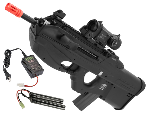 G&G FN Herstal Licensed FN2000 Airsoft AEG Rifle (Package: Black / Tactical / Add 9.6 Butterfly Battery + Smart Charger)