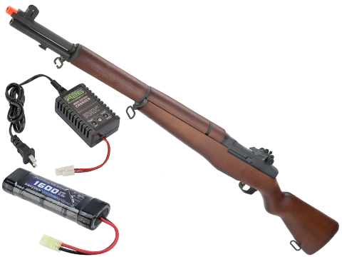 G&G M1 Garand Full Size Airsoft AEG Rifle with Real Wood Stock