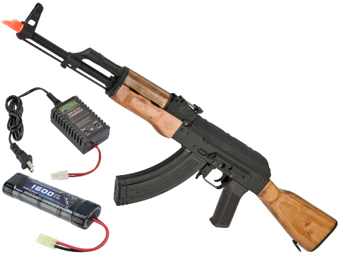 CYMA Standard AKM Airsoft AEG Rifle with Real Wood Furniture (Package: Gun Only)