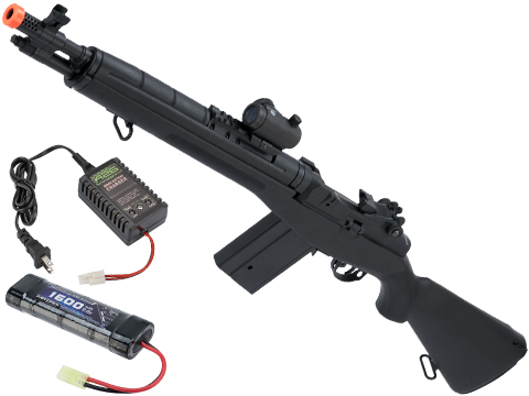 CYMA Sport SOCOM 16 M14 Full Size Airsoft AEG (Package: Black / Standard / Add 9.6v Battery + Charger)