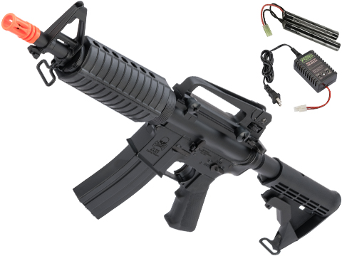 CYMA Sport M933 Commando Airsoft AEG Carbine Rifle (Package: Add 9.6v NiMH Battery + Charger)