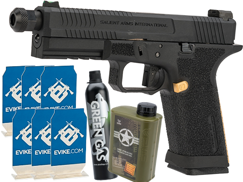 Evike.com Stay at Home Weapon Training / Target Shooting Airsoft Pack (Model: EMG SAI BLU Airsoft Pistol)