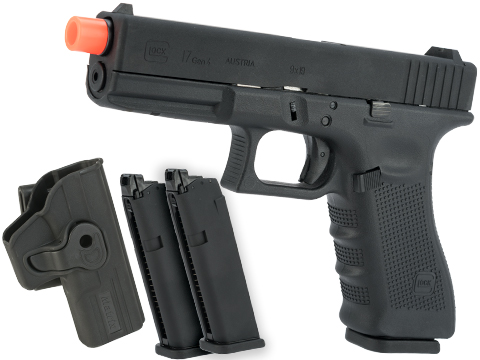 Elite Force Fully Licensed GLOCK 17 Gen.4 Gas Blowback Airsoft Pistol (Type: Green Gas / Carry Bundle)
