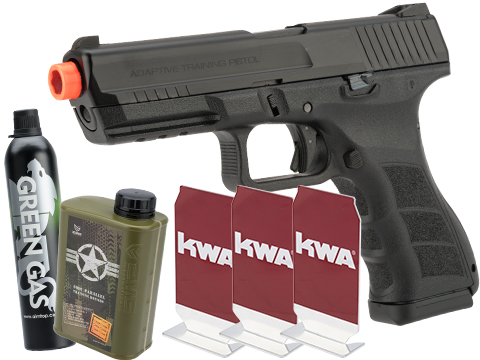 KWA ATP Full Size Airsoft GBB Gas Blowback Pistol (Model: Semi Auto / Stay at Home Package)