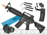 """Go Airsoft Starter Package"" DyTac Sportsline M4 CQB Lipo Ready Airsoft AEG Rifle Package - Black"