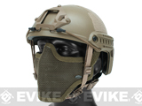 6mmProShop Bump Type Tactical Airsoft Helmet w/ Gen.1 Strike Mask (Type: MICH / Advanced / Tan)