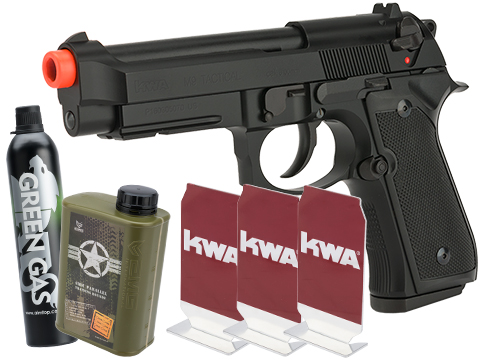 KWA M9 Tactical PTP Gas Blowback Airsoft Training Pistol (Package: Stay at Home Package)