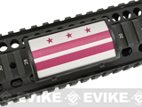 Custom Gun Rails (CGR) Large  Aluminum Rail Cover - Washington D.C Flag