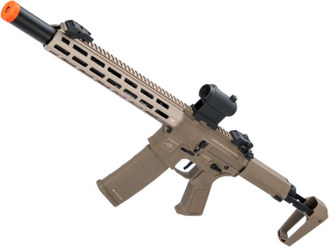 Poseidon Punisher M4-Styled Airsoft AEG Rifle w/ M-LOK Handguard (Model: Tan / 14 Rail and Mock Suppressor)