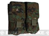 Phantom Gear Modular MOLLE Ready Tactical Double M4 M16 Magazine Pouch (Color: Digital Woodland)