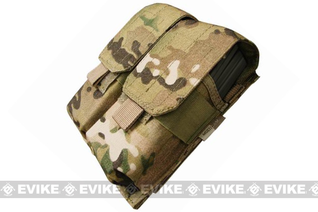 Condor Modular MOLLE Ready Tactical Double M4 M16 Magazine Pouch - Multicam
