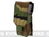 Tactical MOLLE Ready Single M4 M16 Magazine Pouch by Phantom - Woodland Camo