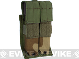 Phantom Gear Tactical MOLLE Double Pistol Magazine Pouch (Color: Woodland)