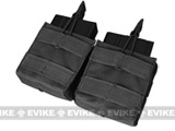 Condor Double M-14 / G3 / SCAR-H Open Top Dual Magazine Pouch - Black
