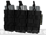 MOLLE Pouches - Tactical Open Top Triple AR / M4 / M16 Mag Pouch - Black