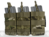 Condor MOLLE Pouches - Tactical Open Top Triple AR / M4 / M16 Mag Pouch (Color: Multicam)