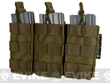 MOLLE Pouches - Tactical Open Top Triple AR / M4 / M16 Mag Pouch - Tan