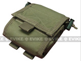 Roll-Up / Foldable Tactical MOLLE Utility Dump Pouch by Phantom / Condor - OD Green