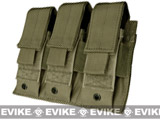 Condor Triple Pistol Magazine Pouch for MOLLE or Belt - OD Green