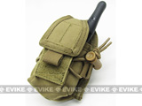 Phantom Gear MOLLE Multi-Purpose Handheld FRS Radio MOLLE Pouch (Color: Tan)