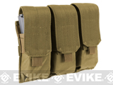 Triple M4 / G36 MOLLE Ready Magazine Pouch by Condor / Phantom - Tan
