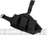 Matrix Triple Magazine Quick Draw Hard Shell Drop Leg Pouch - Black