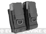 Phantom Aggressor MOLLE Ready M4 AK MP5 Magazine Pouch - Double / Black