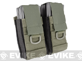 Phantom Aggressor MOLLE Ready M4 AK MP5 Magazine Pouch - Double / Ranger Green