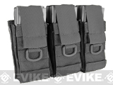 Black Owl Gear / Phantom Aggressor MOLLE Ready M4 AK MP5 Magazine Pouch - Triple (Color: Black)