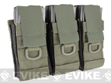 Black Owl Gear / Phantom Aggressor MOLLE Ready M4 AK MP5 Magazine Pouch - Triple (Color: Ranger Green)