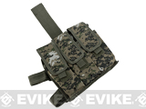Matrix Mil-Spec. Tactical Triple Belt Ready Magazine Drop Leg Pouch - Digital Woodland