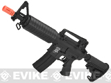 APS Kompetitor Electric Blowback M4 CQB Airsoft AEG Rifle (Black)
