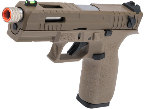 KJW KP-12 Full-Auto Capable Polymer Frame Gas Blowback Airsoft Pistol (Color: Tan)