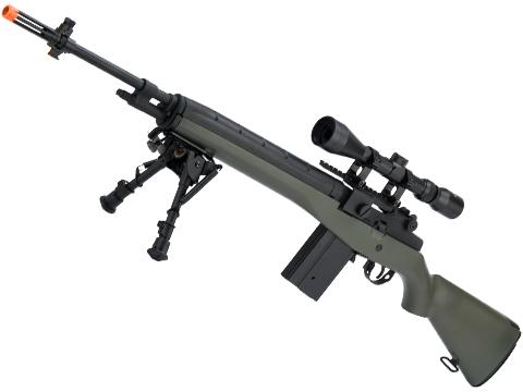AGM MP008 M14 Airsoft AEG Battle Rifle w/ Scope Mount (Color: OD Green / Add 3-9x40 Scope + Bipod)