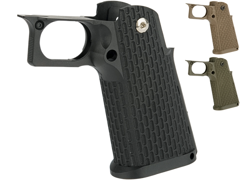 KJW Polymer Hi-Capa Pistol Grip with Integrated Trigger Guard (Color: Black)