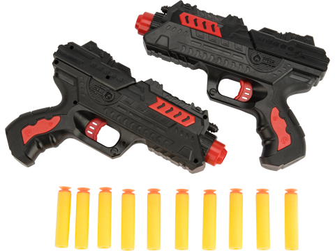 2 in 1 Dart and Gel Ball Blaster Fire Storm Duel Toy Gun Pistol Set