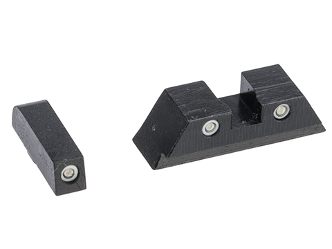 Pro-Arms Steel Sight Set w/ Tritium for GLOCK Series Airsoft Training Pistols (Model: GLOCK 19X / GLOCK 19 Gen.4)
