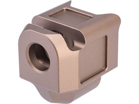Pro-Arms Pistol Compensator for Elite Force GLOCK 19x and 17 Gen 5 Gas Blowback Airsoft Pistols (Color: Flat Dark Earth)