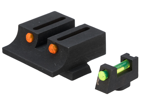 Pro-Arms Steel Fiber Optic Sight Set for Umarex/Cybergun GLOCK Series Airsoft Training Pistols