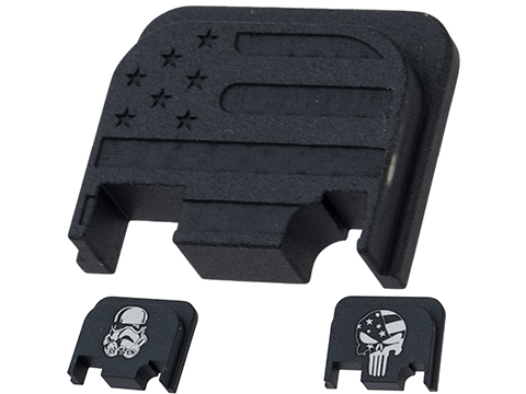 Pro-Arms Slide Rear Cover for Elite Force GLOCK Airsoft Pistols (Type: USA Flag)