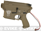 G&P Complete M4 Metal Receiver & Gearbox Airsoft AEG ProKit (Seal Team 6) - Rear Wire / Dark Earth