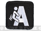Pantel Tactical IFF F'ing A Embroidered Hook and Loop Patch - Black & White