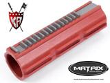 Full Steel Teeth Polycarbonate Piston for Airsoft AEG Gearbox by King Arms / Matrix